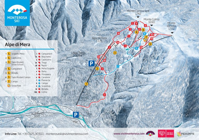 Ośrodek Alpe di Mera - Scopello - Monterosa