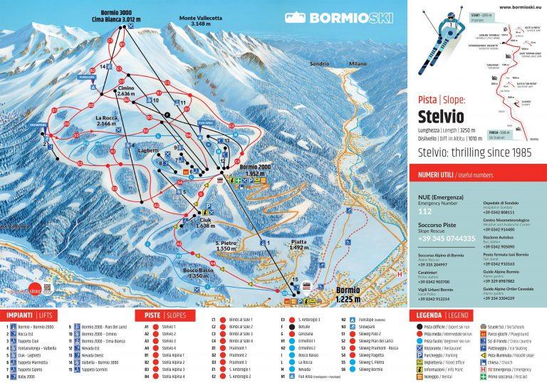 Bormio Ski Skimap