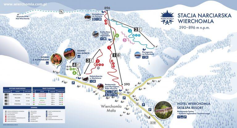 Ośrodek narciarski Dwie Doliny Muszyna – Wierchomla Skimapaa