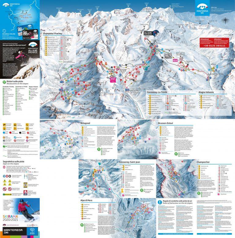 Monterosa Ski Skimap