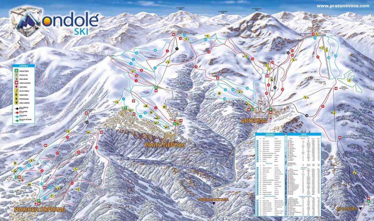 Prato Nevoso – Mondolè Ski Skimap
