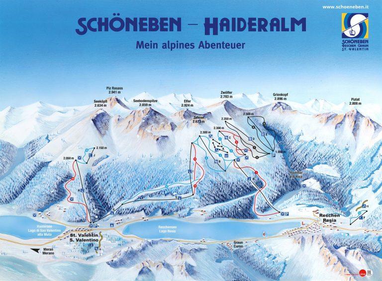 Schöneben – Haideralm – Malga San Valentino Skimap