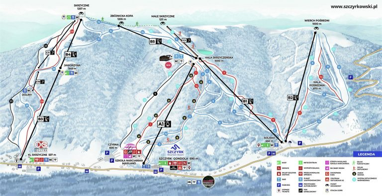 Szczyrk Mountain Resort mapa stoków
