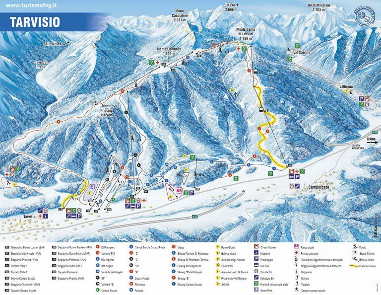 Tarvisio – Monte Lussari Skimap