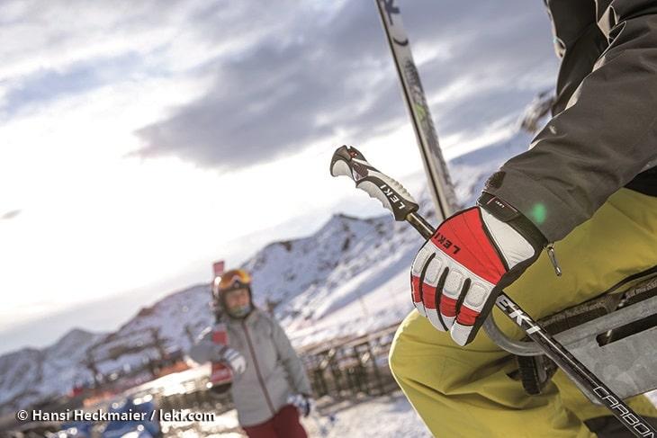 Kije i rękawice narciarskie LEKI