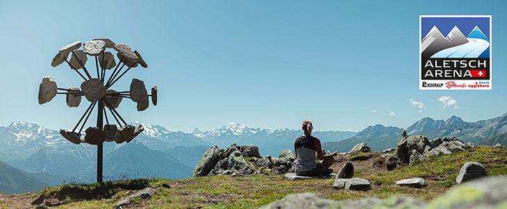 Bądź wolny na lodowcu Great Aletsch